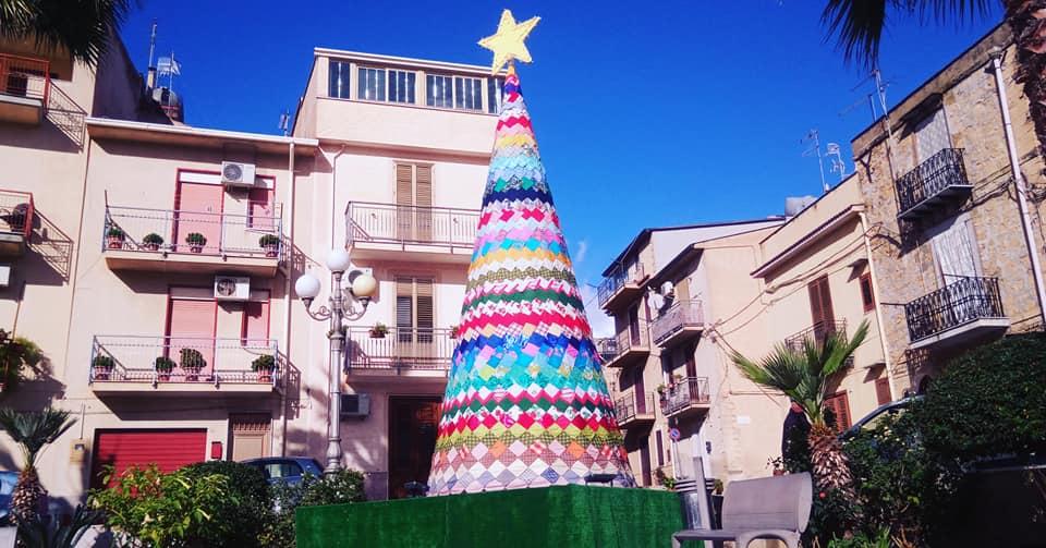 albero di natale ecologico, patchwork, albero di natale di stoffa