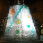 albero di Natale con le bottiglie